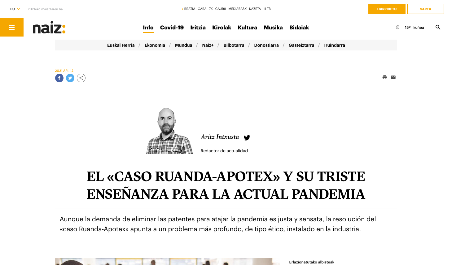 El caso Ruanda-Apotex