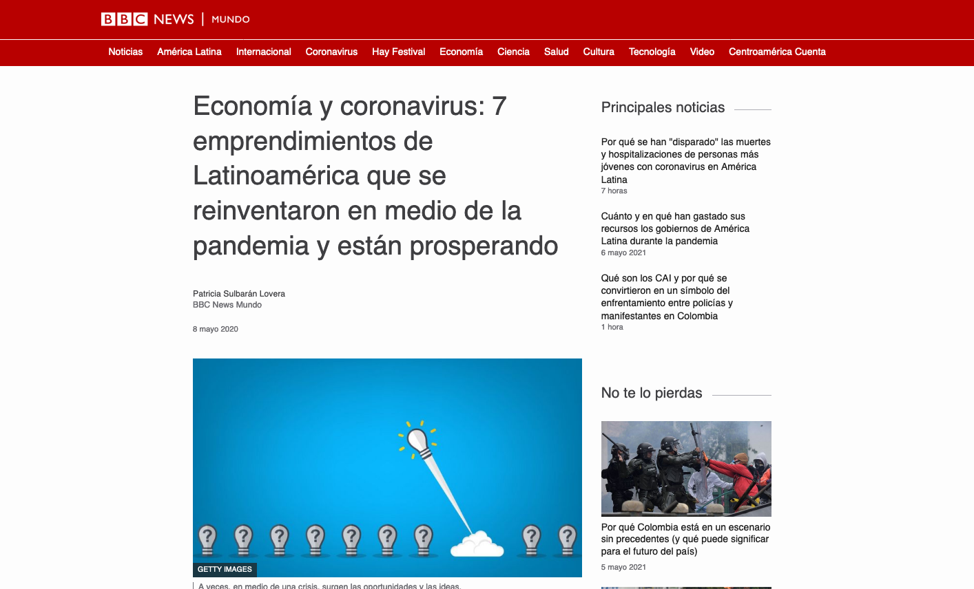 Discoteca y clases de kárate on line, mascarillas de cobre… latinoamérica reinventando su economía