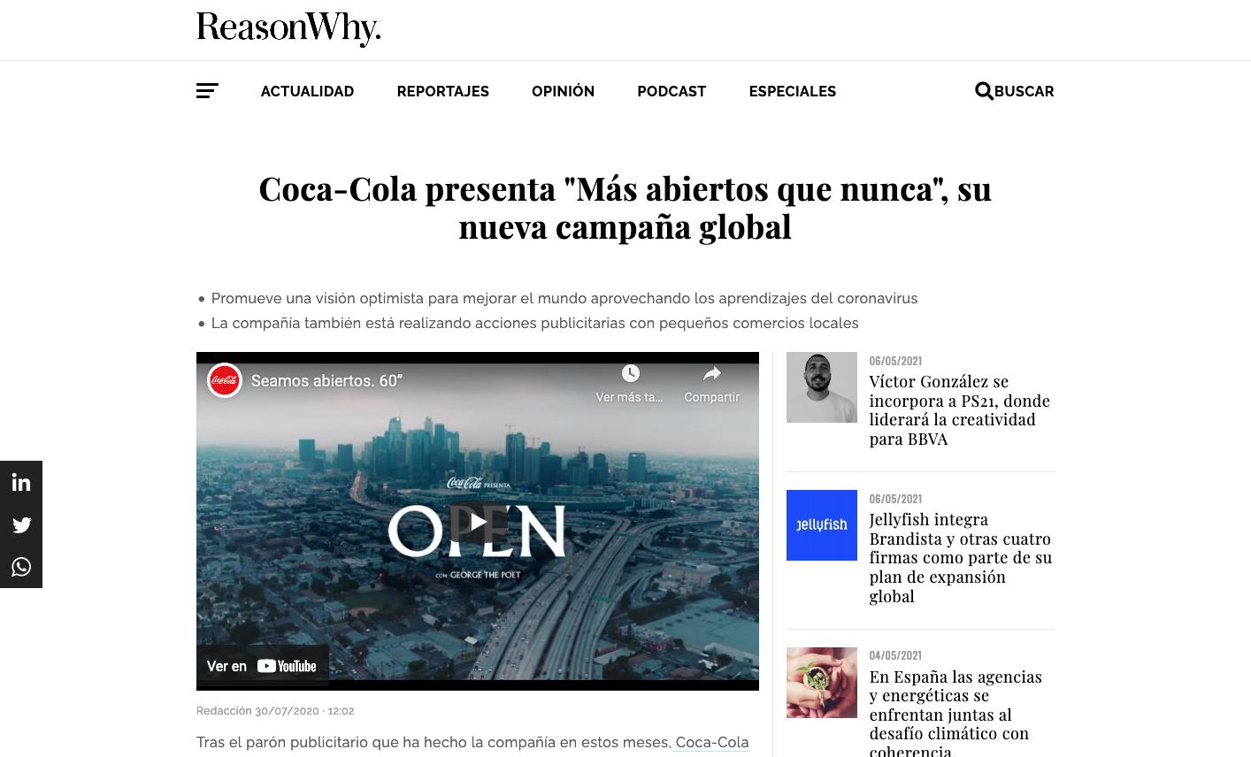 La publicidad de las grandes compañías ante la pandemia global