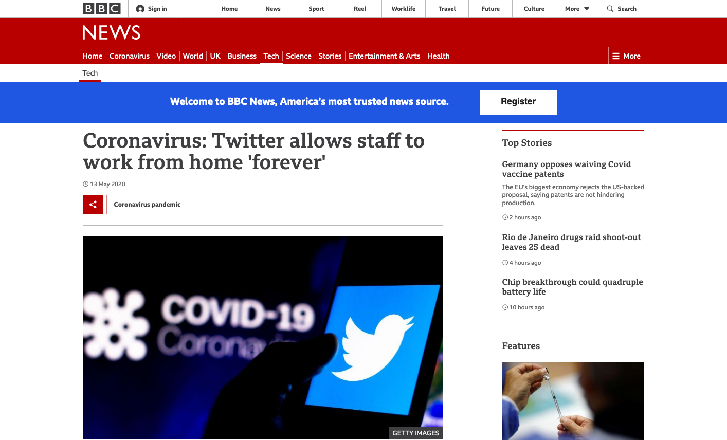 Coronavirus: Twitter allows staff to work from home ˝forever˝